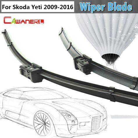 Cawanerl Car Frameless Soft Rubber Wiper Blades Windscreen