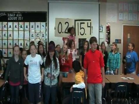 Mr. Bentley's 5th grade students sing a song about dividing decimals. If you have math troubles this is a great song