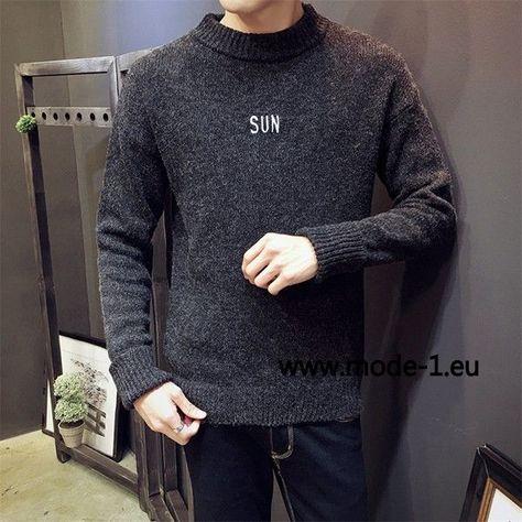 Herren Strick Pullover in Grau #herren #mode #fashion