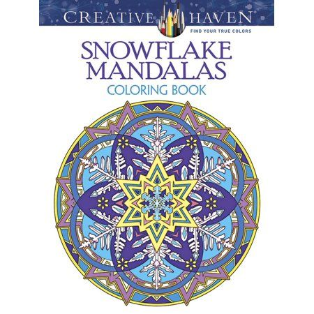 Creative Haven Snowflake Mandalas Coloring Book Walmart Com Coloring Books Christmas Coloring Books Creative Haven Coloring Books