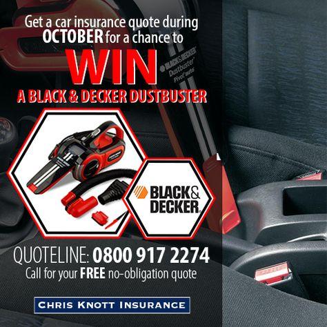Chris Knott Insurance >> October S Prize Draw Win 1 Of 2 Black Decker Dustbusters