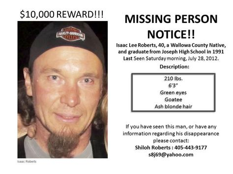 If you know anything please contact law enforcement CAUSES I - funny missing person poster