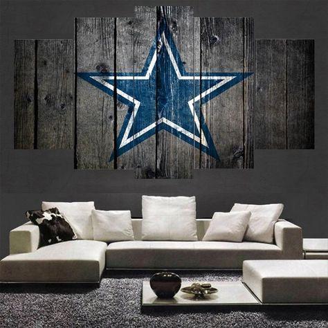 b5bfced30f0 Dallas Cowboys 5 Panel Canvas For ManCave