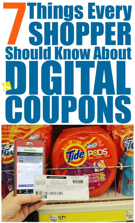 7 Things Every Shopper Should Know About Digital Coupons What are digital coupons? Digital coupons are free electronic store and manufacturer coupons that can be loaded to your loyalty card or store account. How To Start Couponing, Couponing For Beginners, Couponing 101, Extreme Couponing, Shopping Coupons, Grocery Coupons, Shopping Hacks, Free Coupons, Grocery Deals