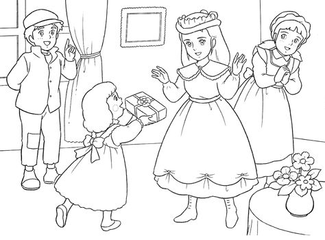 Lovely Sara Coloring Book010 Jpg 1200 887 Coloring Books Coloring Pictures Coloring Pages