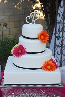 wedding cake..different flowers and the black would need to be a different color also...