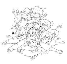 Image Result For Bts Coloring Pages Chibi Coloring Pages Coloring Pages Coloring Books