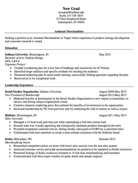 Assistant Merchandiser Resume - http\/\/resumesdesign\/assistant - plumber resume