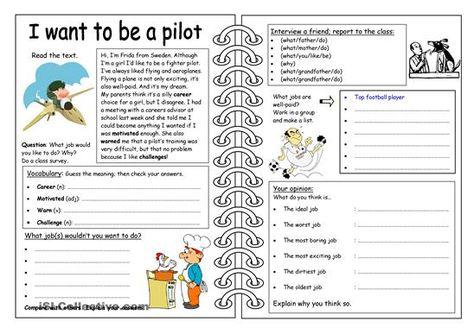 Four skills worksheet focusing on jobs and careers. - ESL ...