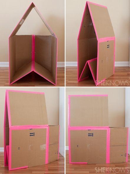 Kid-Eco Cardboard House Playhouse Kit Silver