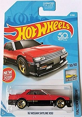 2018 Hot Wheels 50th Anniversary Factory Fresh 10 10 82 Nissan
