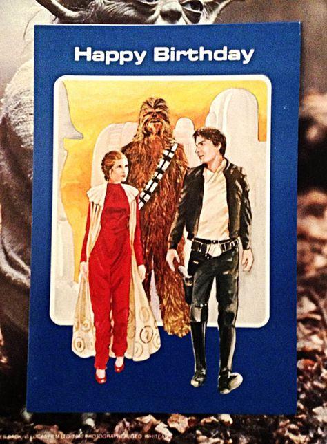 Vintage Star Wars Birthday Card Princess Leia Chewbacca Han Etsy Vintage Star Wars Toys Vintage Star Wars Star Wars Birthday