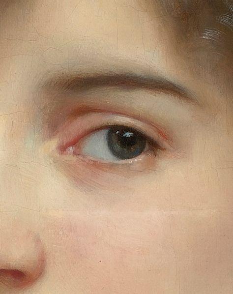 """greuze: """"William Adolphe Bouguereau, Portrait of Gabrielle Cot (Detail), 1890 """""""