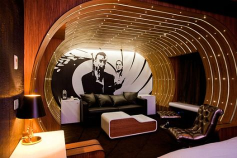 007 themed suit at the Hotel Seven in Paris ★ Skinny Russian ™ Spycatcher Travel and Events