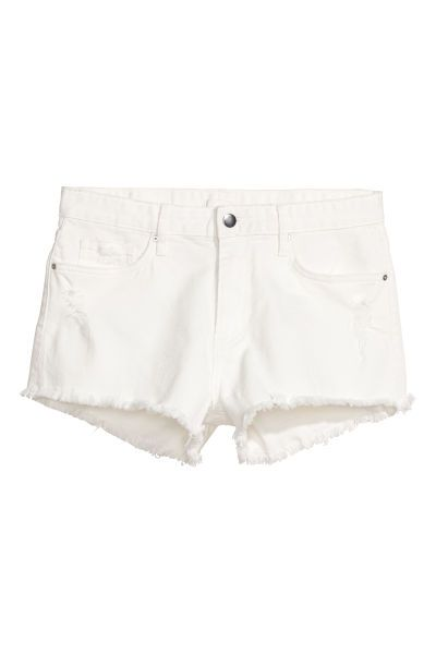 new high quality structural disablities latest trends Denim Shorts | White | Women | H&M US | Back to school ...