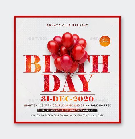 PSD Birthday Flyer Template