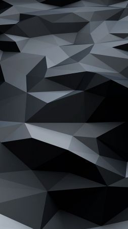 Polygons Abstract 4k Vertical Abstract Abstract Art