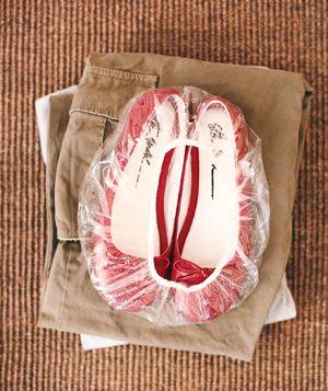 shower cap = shoe wrap for travel