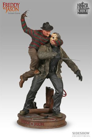 Freddy Vs Jason Scream Scene From Sideshow Toys Horror Action Figures Scary Movies Action Figures
