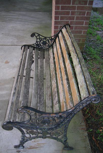 Over Time Park Benches Become Worn And Can Fall Into A State Of