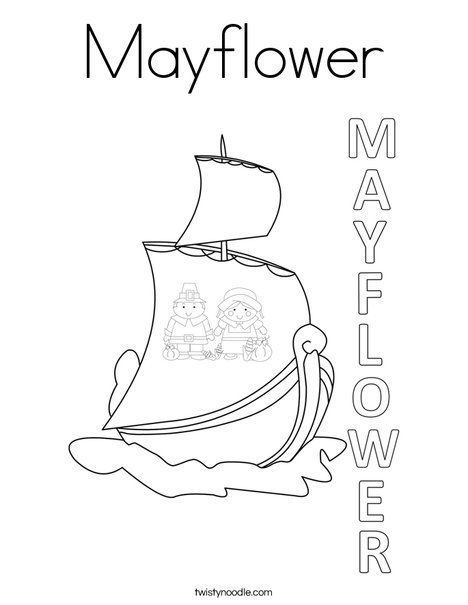 Mayflower Coloring Page Twisty Noodle Coloring Mayflower