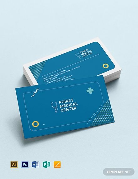 Creative Medical Business Card Template Word Psd Apple Pages Illustrator Publisher Medical Business Card Medical Business Doctor Business Cards