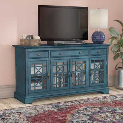 Mistana Daisi 60 Tv Stand Color Antique Blue Tv Stand Decor Living Room Tv Stand Tv Stand Designs