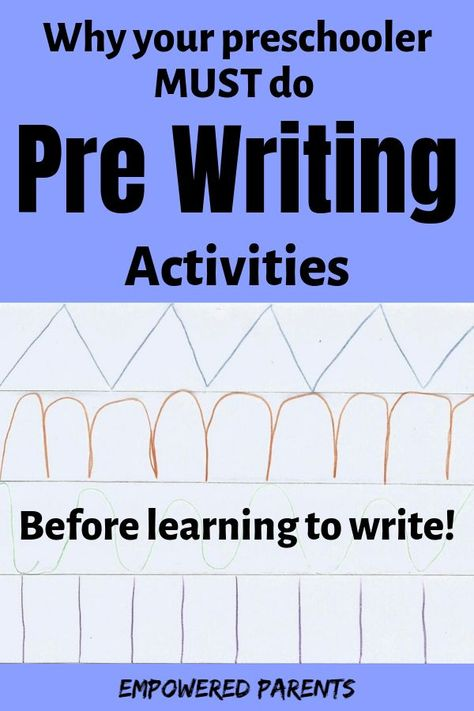 Pre Writing Activities Every Parent Should do with their Preschooler at Home