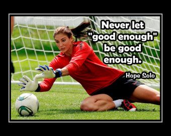 Soccer Motivation Quote Wall Art, Best Friend Daughter Birthday Gift for Women Champion Poster Pride Wall Decor, Hope Solo, by ArleyArt on Etsy Motivational Soccer Quotes, Goalie Quotes, Sport Quotes, Football Quotes, Team Quotes, Soccer Pro, Soccer Goalie, Soccer Players, Soccer Girls