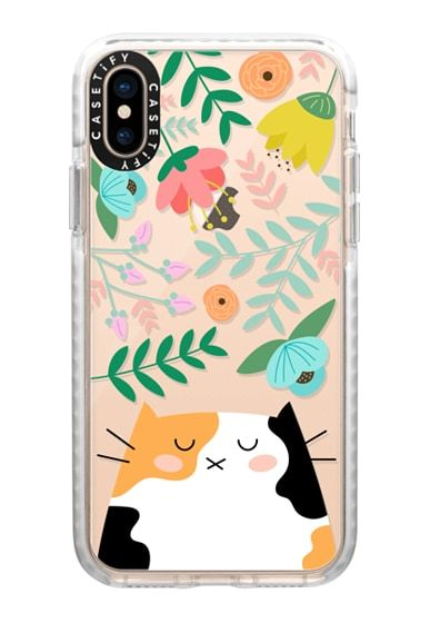 Floral pattern with cats iphone 11 case