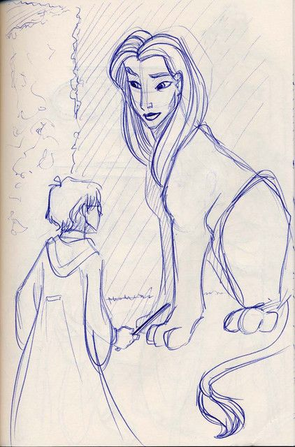 Harry Encounters The Sphinx In The Third Task Of The Triwizard Tournament Sphinx Harry Potter Art Drawings Simple