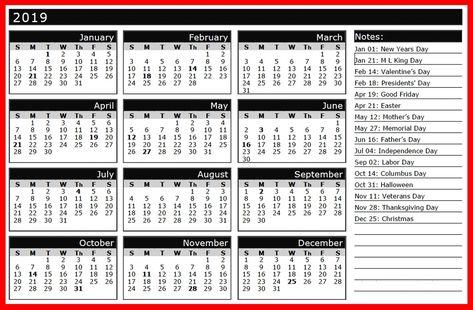 2019 calendar with indian holidays