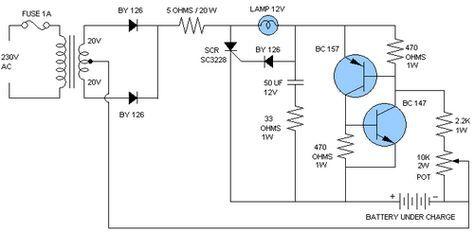 Car Battery Charger Circuit Diagram Car Battery Charger Automatic Battery Charger Battery Charger Circuit