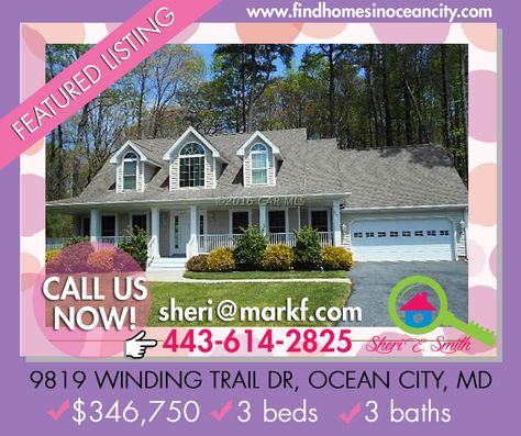 Featured Listing: 9819 Winding Trail Dr, Ocean City, MD