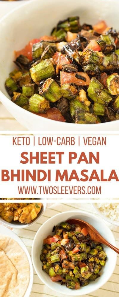 Sheet Pan Bhindi Masala Indian Okra