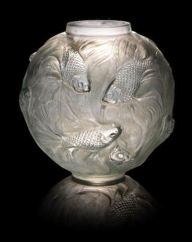 Rene Lalique Clear And Frosted Glass Bagatelle Vase 1920s Rene