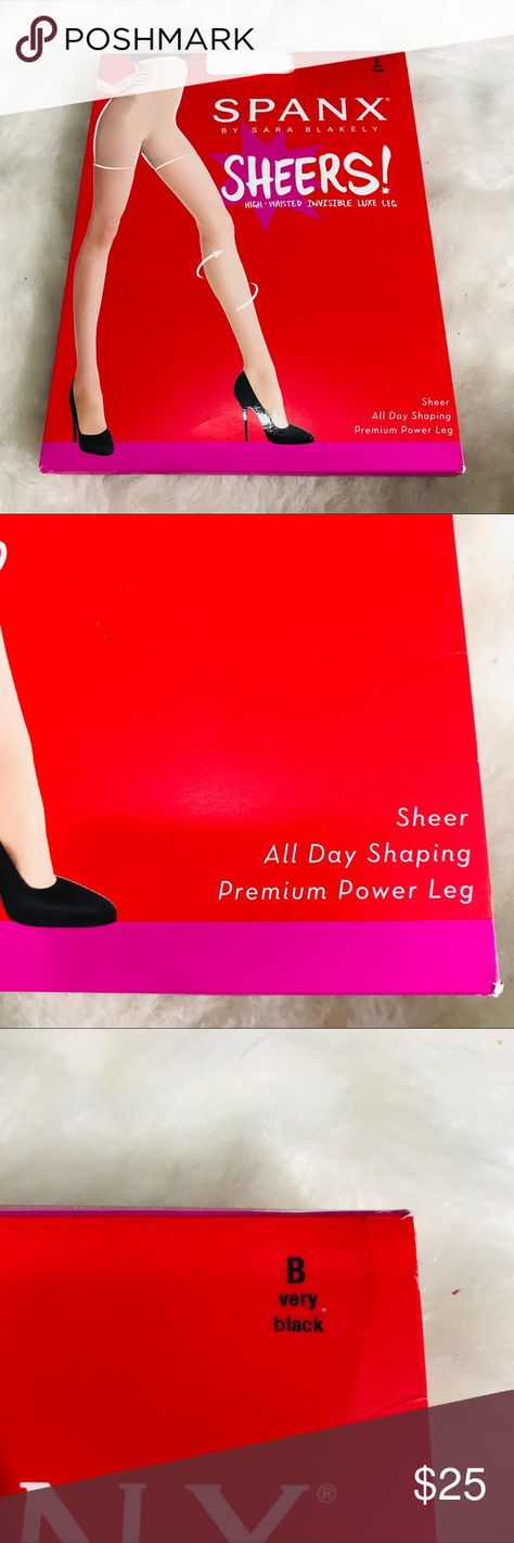 NWT SPANX Black Body Shaping Sheer Pantyhose NWT SPANX Black Body Shaping Sheer Pantyhose  High-waisted Invisible Luxe Leg -Very Black- Size B Box only opened to show color of hose.  Sheer all day shaping Premium Power Leg sleek, built-in shaper flattens stomach & eliminates muffin top 3D yard construction for smart, soft touch stretch and amazing recovery Luxurious Premium Power Leg offers a comfortable fit all day & a completely invisible look SPANX Intimates & Sleepwear Shapewear