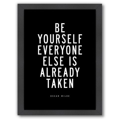 """Americanflat """"Be Yourself"""" Framed Wall Art, Multicolor"""