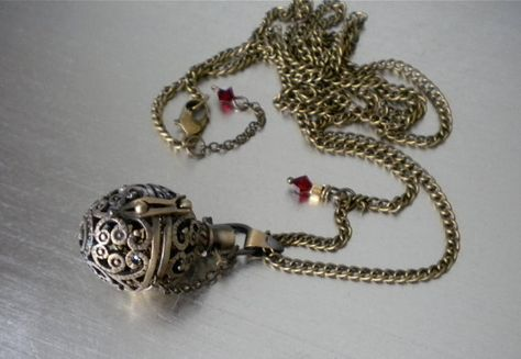 29a38befdfe00f Ball Locket NecklaceTreasure Orb Secret Notes Wish by DesignsbyLQ, $36.00