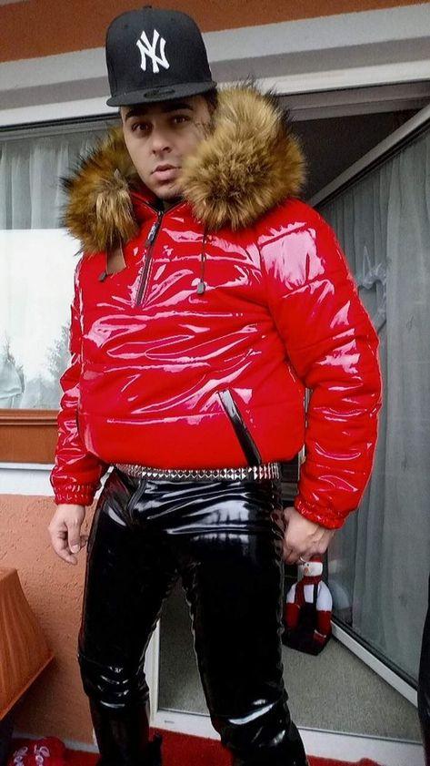 Rote hochglanz jacke Gr XL. mit kaputze OHNE pelz | Kleidung & Accessoires, Herrenmode, Jacken & Mäntel | eBay!