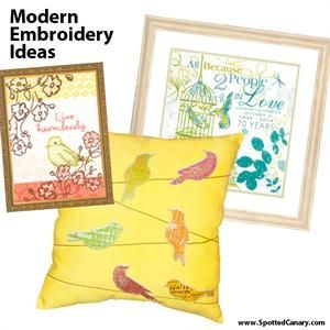 Modern Embroidery Ideas - Spotted Canary