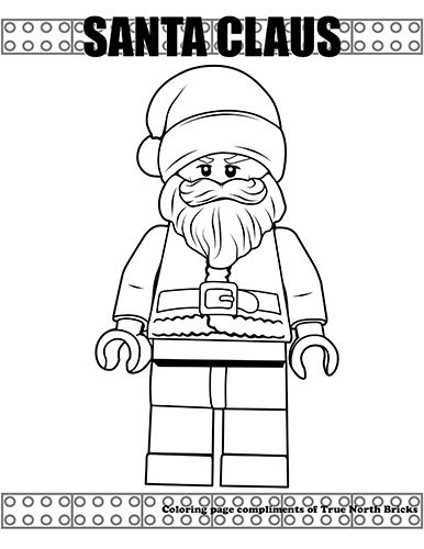 Coloring Page Santa Claus Lego Coloring Pages Lego Coloring