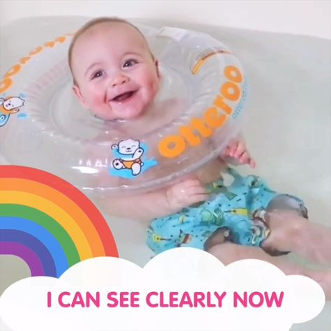 The difference in our baby neck floatie is CLEAR! Learn more about Lumi, our latest floatie! #babybathtoys #babybath #babyregistry