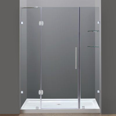 Ultra E 60 X 72 Hinged Shower Doors With Side Panel Shower Doors Frameless Shower Doors Glass Shelves 60 x 72 shower door