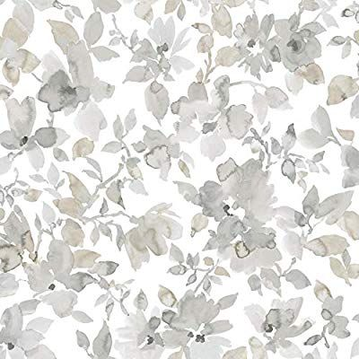 Amazon Com Roommates Neutral Watercolor Floral Peel And Stick Wallpaper Home Improvement Watercolor Floral Wallpaper Floral Watercolor Peelable Wallpaper Floral peel and stick wallpaper amazon