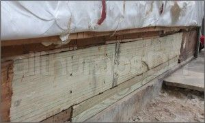 Replace rotted rim joist and sill plates