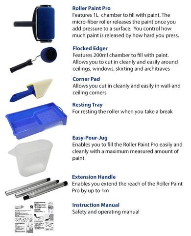 Multifunctional Paint Roller Brush Tools Set 8 Pcs In 2020 Paint Roller Roller Brush Roller