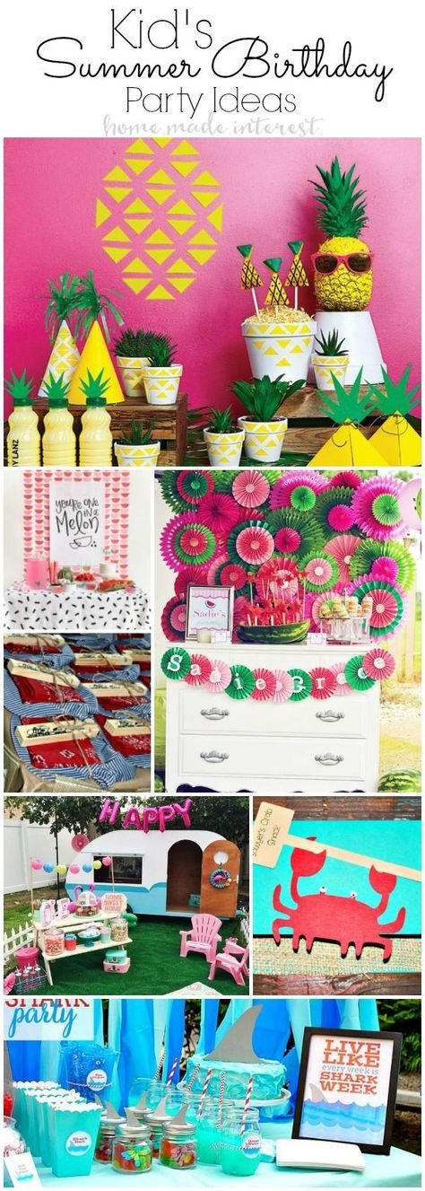 Heres The Coolest Summer Birthday Party Ideas For Kids This Year So Many Boys And