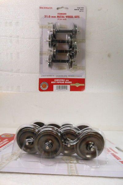 92421 4//Card Bachmann G Scale 31.00mm Large Metal Wheel Set