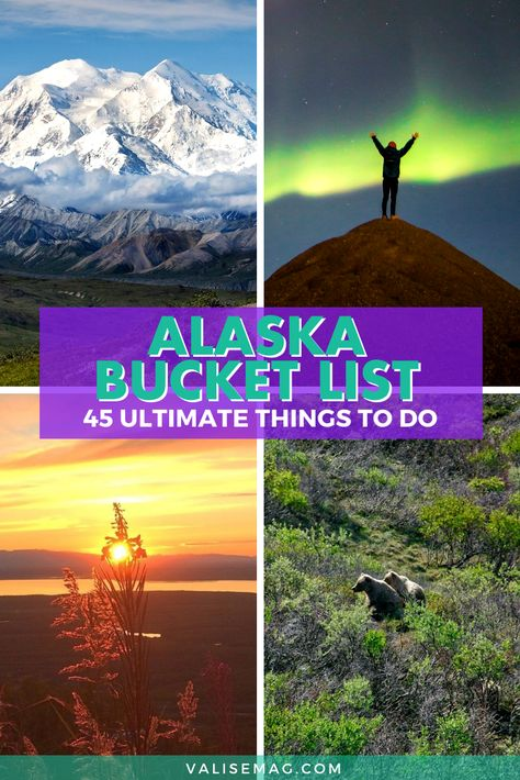 Planning to visit Alaska for a once-in-a-lifetime trip? Use this Alaska bucket list to plan your tri - - Planning your once-in-a-lifetime trip to Alaska? Here are all of the things to put on your Alaska bucket list – with some local inclusions! Alaska Travel, Travel Usa, Alaska Trip, Alaska Highway, Aurora Borealis, Alaska National Parks, Visit Alaska, See The Northern Lights, Alaska Northern Lights